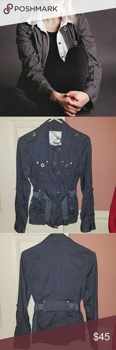 *HostPick* Fusion Denim grey womens utility jacket Host pick in Best in Outerwear party.  Like new. Worn once very briefly for a photo shoot (cover photo). Has a slight stretch to it.  Selling because I don't have room for many  jackets. Fusion Denim Jackets & Coats Utility Jackets