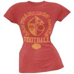 San Francisco 49ers - Vintage Flock Logo Juniors T-Shirt - Large by Old Glory, http://www.amazon.com/dp/B004BGTZS2/ref=cm_sw_r_pi_dp_abkEqb1AXKEGZ