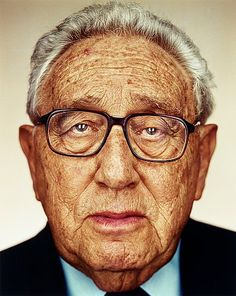 """Martin Schoeller Germany Born 1968  """"Henry Kissinger"""", 2007. (d)  Signed MS and dated 2008 on label verso. Edition 1 AP. Digital C-print, image 124 x 100 cm. Including frame 155 x 125 cm."""