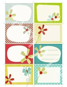 Would make cute gift tags for those little ones in your life.     Printable scrapbook journal cards