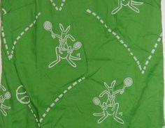 Detail of Roo tennis: Vintage Vested Gentress Green Kangaroo Tennis Dress Size 14
