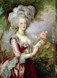marie antoinette and family | Marie Antoinette (1755-93) after Vigee-Lebrun Oil Painting - Louise ...