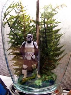 I already have the glass lamp...and the figures are cheap...I think I could do this!!