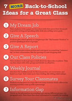 7 MORE Back-to-School Ideas for a Great Class