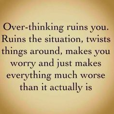 overthinking - guilty
