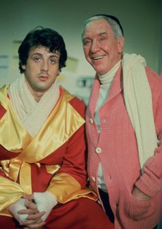 Sylvester Stallone and Burgess Meredith in 'Rocky', 1976.