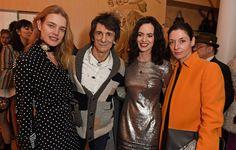 Natalia Vodianova, Ronnie Wood, Sally Wood, and Mary McCartney