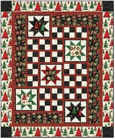 Christmas Quilt Pattern Elegant Christmas Size 64 x Christmas Bedding, Christmas Quilt Patterns, Christmas Fabric, Christmas Present Quilt, Minimalist Christmas, Colorful Quilts, Quilts For Sale, Panel Quilts, Quilt Sizes