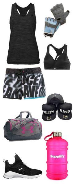 """Fitness Outfit für Frauen: """"Queen & King"""" - Mit diesem Fitness-Outfit sind Sie auch in der warmen Jahreszeit bestens ausgestattet: Das Top von Asics trocknet schnell und leitet die Feuchtigkeit nach außen. Die Shorts von Adidas machen das Fitness-oder Lauf-Outfit zu einem Hingucker durch den ausgefallenen Print auf der Vorderseite. Durch die Trainingsschuhe von Puma können Sie sowohl auf der Trainingsfläche als auch im Kursraum alles geben – sie sorgen für einen flüssigen Bewegungsfluss und…"""
