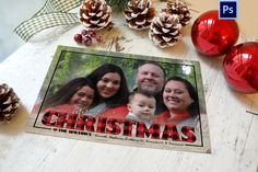 Plaid Christmas Card, Lumberjack Christmas Card, Buffalo Plaid Christmas, PHOTOSHOP TEMPLATE, Photographer template, Commercial Use by WolcottDesigns on Etsy