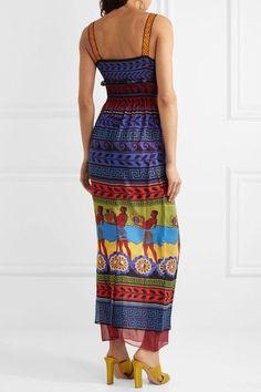 Mary Katrantzou - Hemera Printed Silk-georgette Dress - Purple - UK16