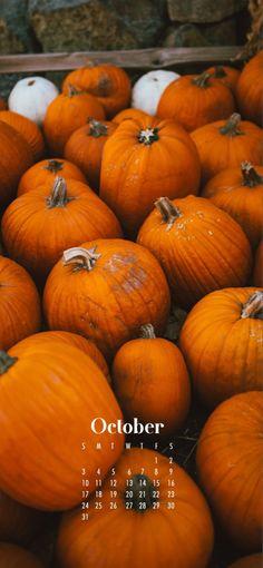 October 2021 Pumpkin Calendar iPhone Wallpaper