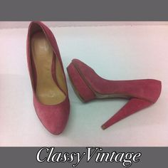 Rosé suede heels by Colin Staurt Rosé suede platform heels. Gently worn . No marks. Leather uppers and balance made. Colin Stuart Shoes Heels