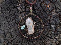 Handmade crystal quartz and aquamarine wire wrapped pendant necklace from CrystalAndVein on Etsy! https://www.etsy.com/listing/203910771/crystal-quartz-wire-wrapped-pendant?ref=shop_home_active_5 #quartz #crystal #handmade #necklace #pendant #jewelry #wirewrapped #leather #swirl #etsy #adjustable #accessory #crystalandvein #hipster #urban