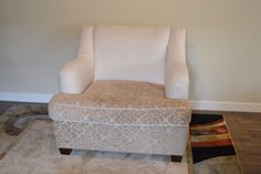 Custom Upholstered Large Oversized Chair by BlueChairUpholstery