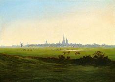Caspar David Friedrich - Wiesen bei Greifswald