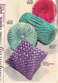 Grandma D made a dark purple velvet pillow like the round aqua one - I love it!1963 Pillows