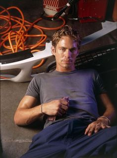 Paul Walker showing an impressive bulge