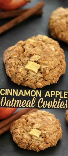 This Cinnamon Apple Oatmeal Cookies recipe is one of my favourite fall desserts.