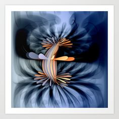 AetherealVibesSeries062 Art Print by fracts - fractal art - $16.00