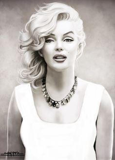MARILYN MONROE by ~amirulhafiz on deviantART - digital painting based on Sam Shaw photo -    This image first pinned to Marilyn Monroe Art board, here: http://pinterest.com/fairbanksgrafix/marilyn-monroe-art/    #Art #MarilynMonroe