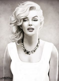 MARILYN MONROE by ~amirulhafiz on deviantART - digital painting based on Sam Shaw photo - || This image first pinned to Marilyn Monroe Art board, here: http://pinterest.com/fairbanksgrafix/marilyn-monroe-art/ || #Art #MarilynMonroe