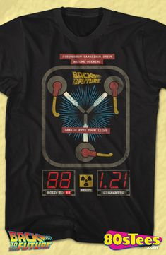 Flux Capacitor Back To The Future Geeks:  Every day can be special wearing this cool men's style design with great art and illustration.