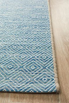 Terrace Clara Diamond Rug Blue – Aladdin Rugs NZ Rug Styles, Diamond Rugs, Flat Woven Rug, Innovation Design, Rug Pad, Rugs, Oversized Rugs, Indoor Outdoor Rugs, Contemporary Rugs