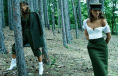 Sara Blomqvist And Lena Hardt By Paola Kudacki For Vogue Spain November 2014