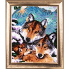 Wolves Animals Bead Embroidery kit Beadwork Beaded Embroidery Kit DIY