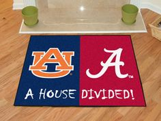 No one ever said your household had to cheer for only one team. Keep this LSU - Alabama College House Divided Mat by Fanmats in your home to let your loved ones and guest know your team is not to be reckoned with! Nfl Patriots, Nfl New England Patriots, Lsu Alabama, Alabama College, State College, Alabama Crimson, Crimson Tide, Bears Packers