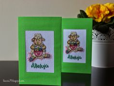 Easter card, cross stitch