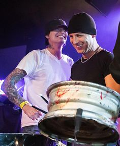 Tommy Lee and Stephen Perkins...2 of the greatest drummers!