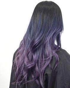 Pin by Lisa Hendricks on Hairy Situation Ombré Hair, Dye My Hair, Hair Dos, Violet Hair, Purple Hair, Pretty Hairstyles, Wig Hairstyles, Hair Streaks, Asian Hair