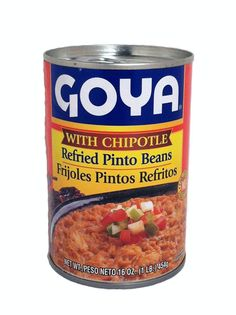 goya refried pinto beans with chipotle 16 oz goya refried pinto beans ...