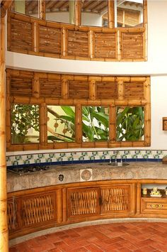 DISEÑOS DE COCINAS CON GUADUA | Flickr: Intercambio de fotos Filipino Architecture, Bamboo Architecture, Filipino House, Bamboo House Design, Bamboo Structure, Thai House, Bamboo Wall, Bamboo Crafts, Kitchen Decor