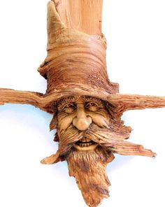 Wood Spirit by psychosculptor.... Wood carving