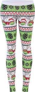 Teenage Mutant Ninja Turtles Ugly Christmas Pattern White Leggings (Juniors X-Large): Polyester, Spandex Juniors / Womens Fit Made in USA Great add on for Ugly Christmas Sweater parties Officially Licensed Crazy Leggings, White Leggings, Christmas Leggings, Ugly Christmas Sweater, Tmnt, Holiday Outfits For Teens, Teenage Ninja Turtles, Ugly Sweater Party, Teenager Outfits