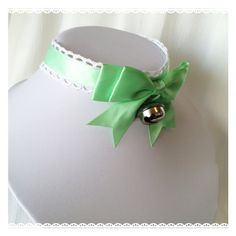 Hey, I found this really awesome Etsy listing at https://www.etsy.com/listing/494837180/mint-green-satin-kitten-play-collar