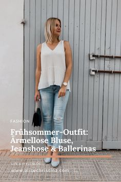 Bluse Outfit, Denim Look, Fashion Weeks, Ballerinas, Alice, Blog, Lifestyle, Outfits, Sporty Chic