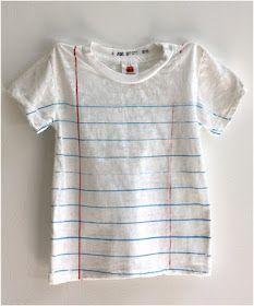 Lined paper t-shirt, neat-o! Fashion Kids, Look Fashion, School Fashion, Diy Mode, Looks Cool, Cool Stuff, Stuff To Buy, Random Stuff, What To Wear
