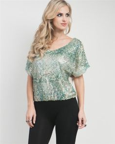 G2 Chic Sequined Smocked Boxy Blouse G2 Chic. $17.96