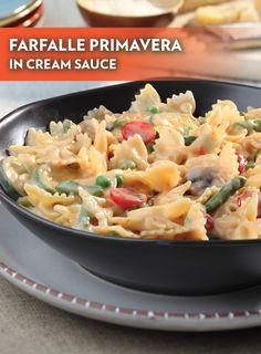 Farfalle Primavera in Cream Sauce – This pasta recipe features fresh vegetables, cream starter and Parmesan cheese tossed in farfalle. It just doesn't get more delicious than this!