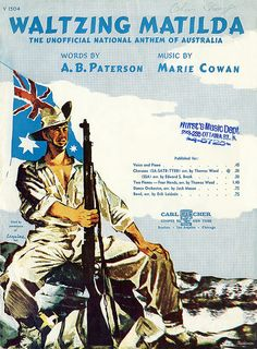 I grew up singing this song. Can sing it in my sleep! Old Sheet Music, Vintage Sheet Music, Piano Sheet, Eureka Stockade, Vintage Graphic Design, National Anthem, Music Covers, Greatest Songs, Music Tv