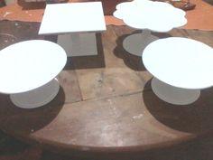 Alzadas para tortas, tartas y cupcakes, redondas, cuadradas, en forma de flor.
