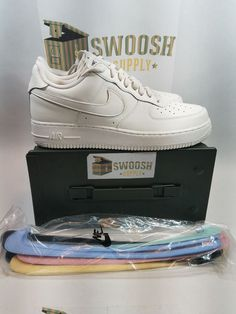 7406407beac8ae Nike Air Force 1  07 QS Sail Sz 10 Swoosh Pack Sail Off White AH8462-101