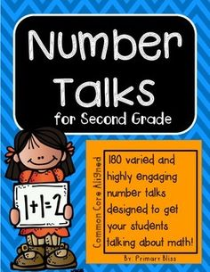 This year-long (180 lessons), common core aligned Number Talks program is specifically designed for second grade and guaranteed to get your students highly engaged in mathematical discourse. We have thoughtfully created a variety of activities to get your students talking about math.