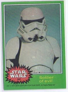 STAR WARS - 1977 TOPPS CARD #247 - SOLDIER OF EVIL! - NM-MINT - FREE S/H