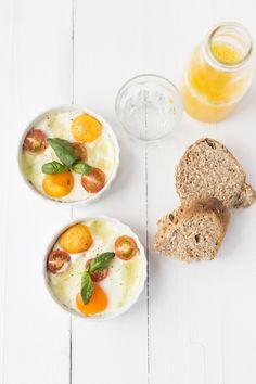 Caprese eitjes uit de oven van Uit Pauline's Keuken