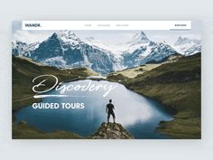Discovery Tours Parallax Header Scroll by Nathan Riley for green chameleon